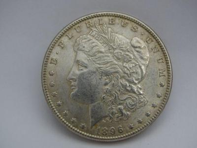 1896- P Morgan Silver Dollar