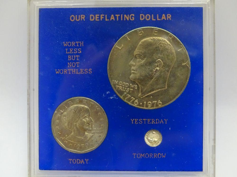 Our Deflating Dollar Coins- Eisenhower, Susan B  Anthony
