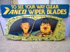 "Plastic sign ""To See Your Way Clear Anco Wiper Blades"""