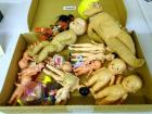 Box of celluloid & other dolls