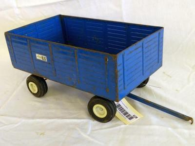 The Big Blue metal wagon, front axle moves, 12""
