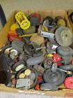 Box of wheels, tires & asstd parts