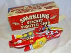 Sparkling Rocket Fighter Ship, reproduction, in original box