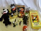 Box of Felix the Cat items
