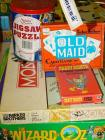 Monopoly, jigsaw puzzle, Old Maid cards