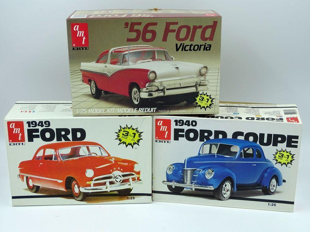 3 AMT Model car kits 1:25 scale, all in original boxes, all