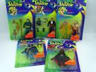 The Shadow movie figurines (5), all NIB:Transforming Lamont Cranston, Shiwan Khan, Ambush Shadow, Mongol Warrior, Lightning Draw Shadow
