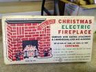 Christmas Electric Fireplace, NIB
