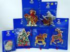6 Holiday Time ornaments, NIB