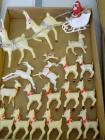 Box of assorted plastic Reindeer, all sizes