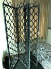 Metal ornamental divider (heavy), 4 panels, each panel 24x75, hinged
