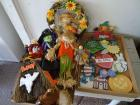Wooden Holiday Decor, Box of Fall Decorations