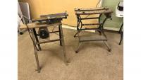 Sears Roebuck planer Model #149.21871 on handmade stand & Black & Decker Workmate