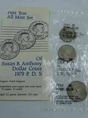 b 1979 Susan B Anthony First Year All Mint Coin Set