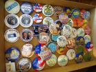 Assortment of Political and Kansas Wheat Festival Collector Buttons