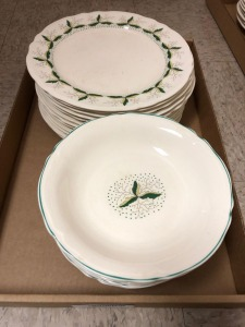 Antique Knowles Dinner Plates (12) & Bowls (12)