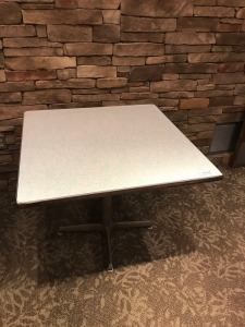 36 x 36 cafe table