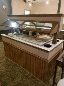 Salad Bar and inserts 73.5 x 34 x 36