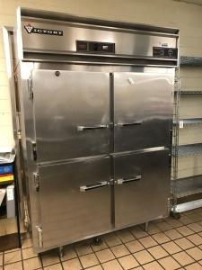 Commercial Victory double sided Pass-Through Refrigerator/Warming Cabinet