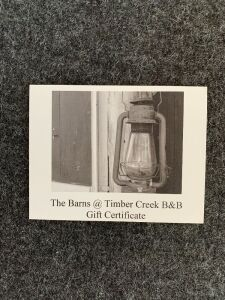 One Night Stay at Barns @Timber Creek B&B, near Wichita KS ($112 Value, Double Occupancy)
