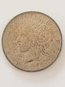 1923 Peace Dollar, 90% Silver, 10% Copper