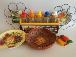 Home Decor, Including Storage Jars, 1955 Multi Product Inc Bowl, Decorative Plates, Ceramic Fruit Wall Hanging