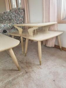 Retro Living room 3 pc Set -coffee table, 2 end tables