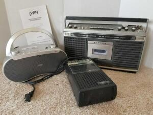 Stereos (2) and Cassette Tape Recorder