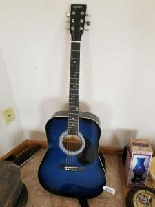 Blue Esteban Acoustic Guitar