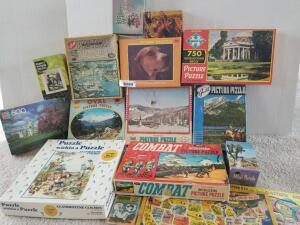 Vintage Puzzles (Some Puzzles May Be Missing Pieces)