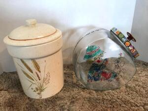 4-H Project Cookie Jar and Ceramic Wheat Canister