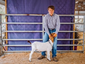Jacob Arnett,2nd Red Meat Goat Tisdale 4-H, Winfield