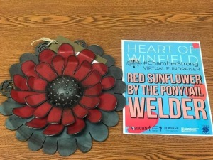 Red Sunflower donated by The Ponytail Welder