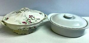 China Soup Tureen and Ceramic Casserole Dish
