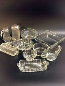 Glass Dishes Assortment and Egg Plates