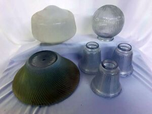 Glass lamp shades, various sizes