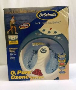 Dr. Scholl's O3 Pure Ozone Foot Spa in box