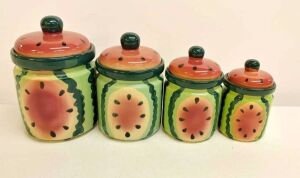Ceramic Watermelon Canisters