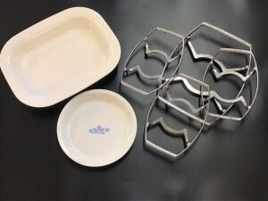 Corningware Casserole Dish, Pie Plate, And Trivets