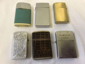Variety of lighters- Scripto, Ronson, Windguard, Park, CHAMP