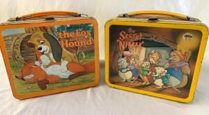 Metal lunch box- Walt Disney The Fox and The Hound and 1982 The Secret of Nihm