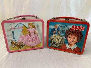 Metal lunchboxes- 1981 Annie and Junior Miss