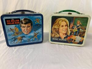 Metal lunchboxes- Bionic Woman and the Six Million Dollar Man