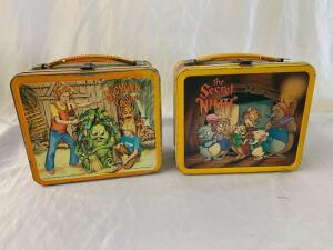 Metal lunchboxes- 1982 The Secret of Nimh and Sigmond and the Sea Monsters