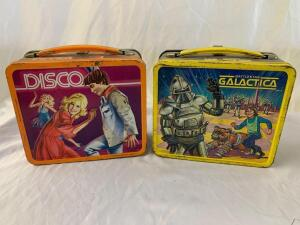 Metal lunchboxes- 1978 Battlestar Galactica and Sway and Swirl Disco