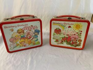 Metal Lunchboxes- 1980 and 1981 Strawberry Shortcake