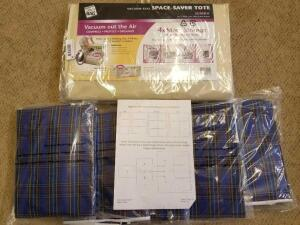 Under the bed Storage Bags and Vacuum Seal space saver Jumbo Tote