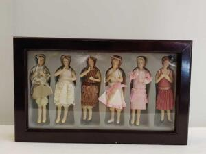 1920 Flapper Figurine Ornaments in Fitted Case