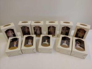 DG Creations Pretty Woman Porcelain Collectible Ornaments in Original Boxes