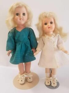 "Ideal dolls- 15"" Mary Hartline and 14"" P-90W ""Toni"""